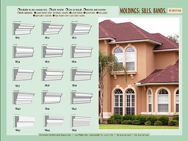 RESIDENTIAL moldings sills bands b
