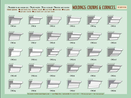 RESIDENTIAL moldings cornice crown 2b