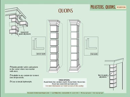 RESIDENTIAL Pilasters Quoins b