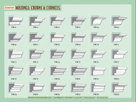 RESIDENTIAL moldings cornice crown 2a