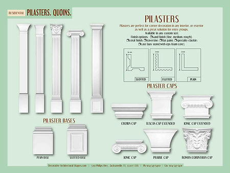 RESIDENTIAL Pilasters Quoins a