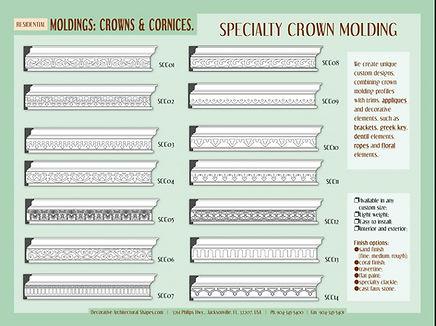 RESIDENTIAL moldings cornice crown 3c