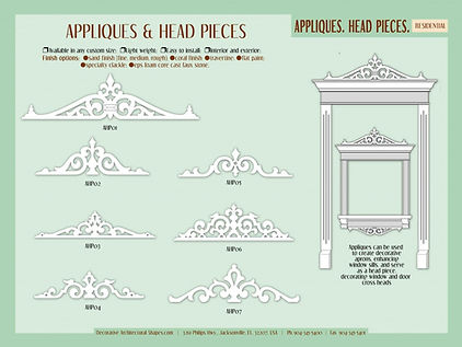 RESIDENTIAL appliques head pieces