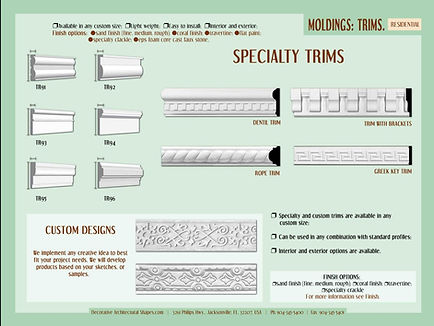 RESIDENTIAL moldings Trims 2b
