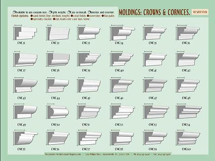 RESIDENTIAL moldings cornice crown 1b