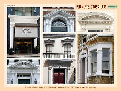 COMMERCIAL pediment crosshead pilasters 2