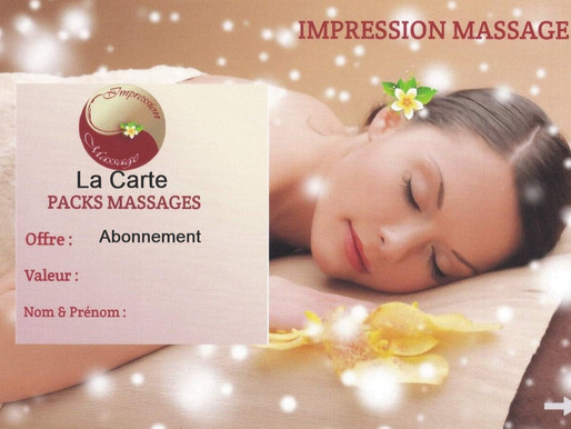 "La carte Packs Massages ""Abonnement"""