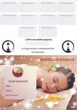 Carte Pack massage