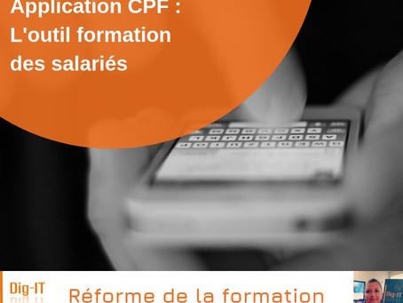 Application CPF : l'outil formation des salariés
