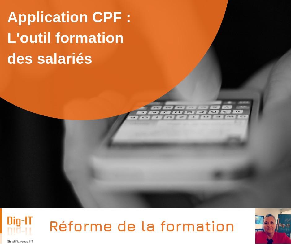 Application CPF - Outil de formation des salariés