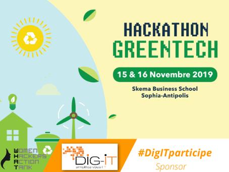 Hackathon GreenTech : Dig-IT fier d'être sponsor !