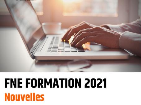 FNE Formation 2021 – Nouvelles mesures