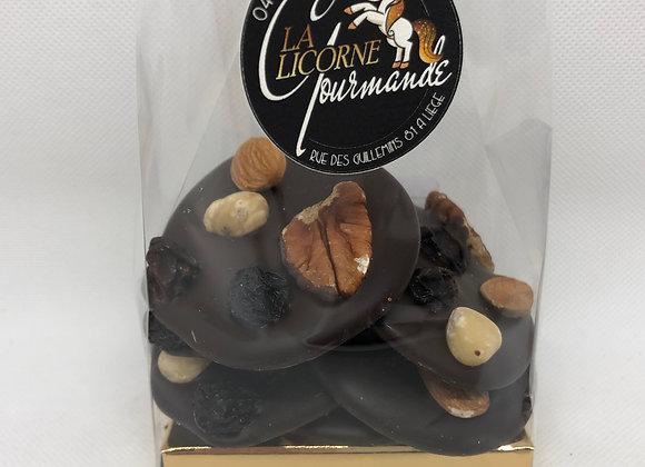 Mendiants au chocolat fondant