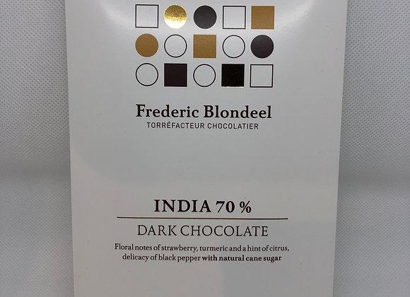 Tablette de chocolat 84g single origin par Frederic Blondeel