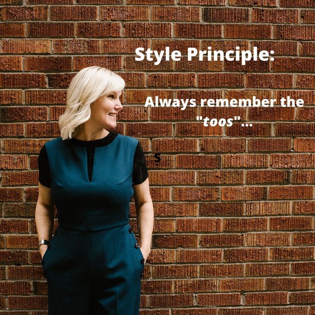 """Style principle - remember the """"toos""""..."""
