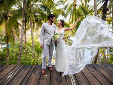 Fotografia de boda en Punta Sirena en Acapulco