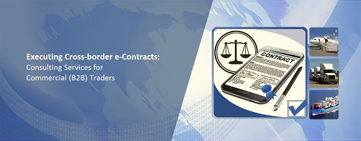 Executing global B2B e-contracts