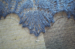 Blocking lace shawl