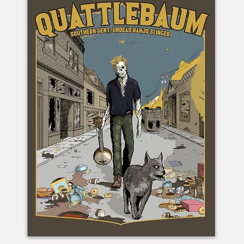 Zombie Quattle Sticker