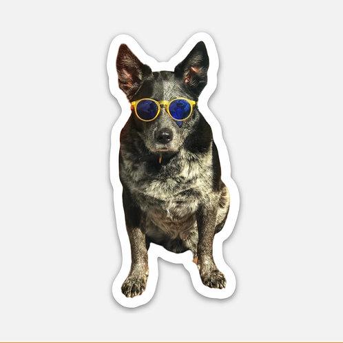 Sunny Day Dog Sticker