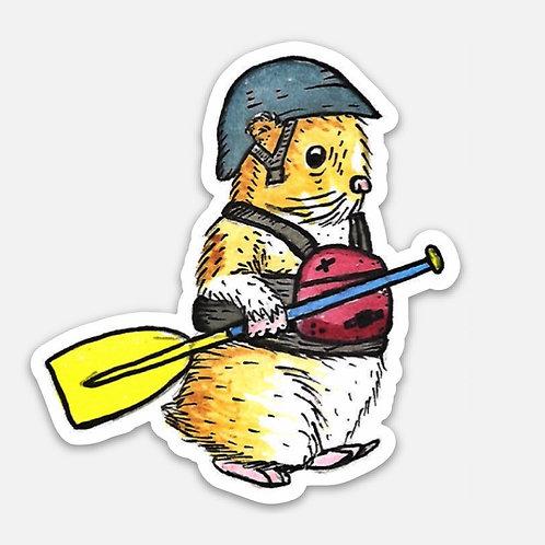 Hamster Paddle Boi Sticker