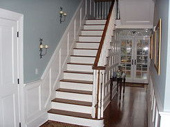 Raised panel staircase