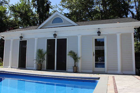 Custom built Pool house