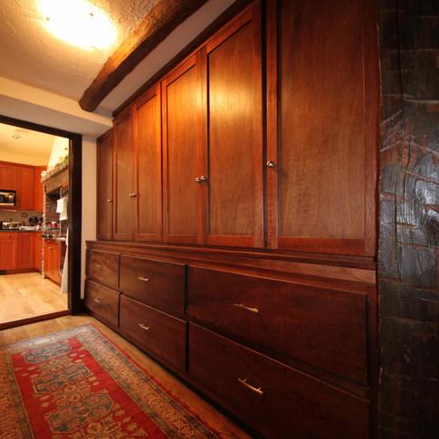 Built-in Mahogany Cabinet