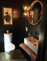 Bathroom Reno. Live-edge Vanities