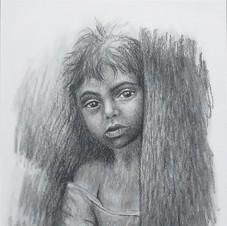 D05.         Crayon de charbon de bois sur papier
