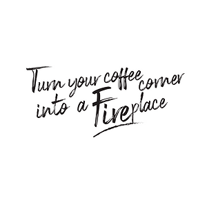 Turn you coffee corner into a fireplace