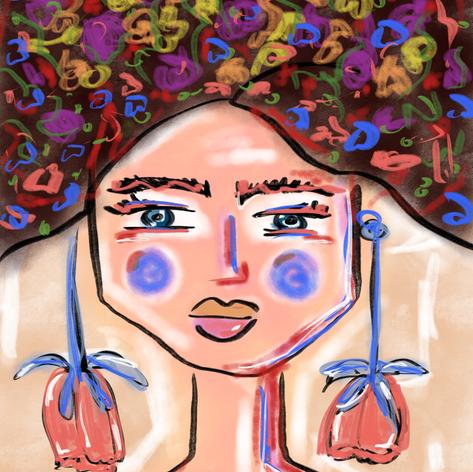 Frida blauw