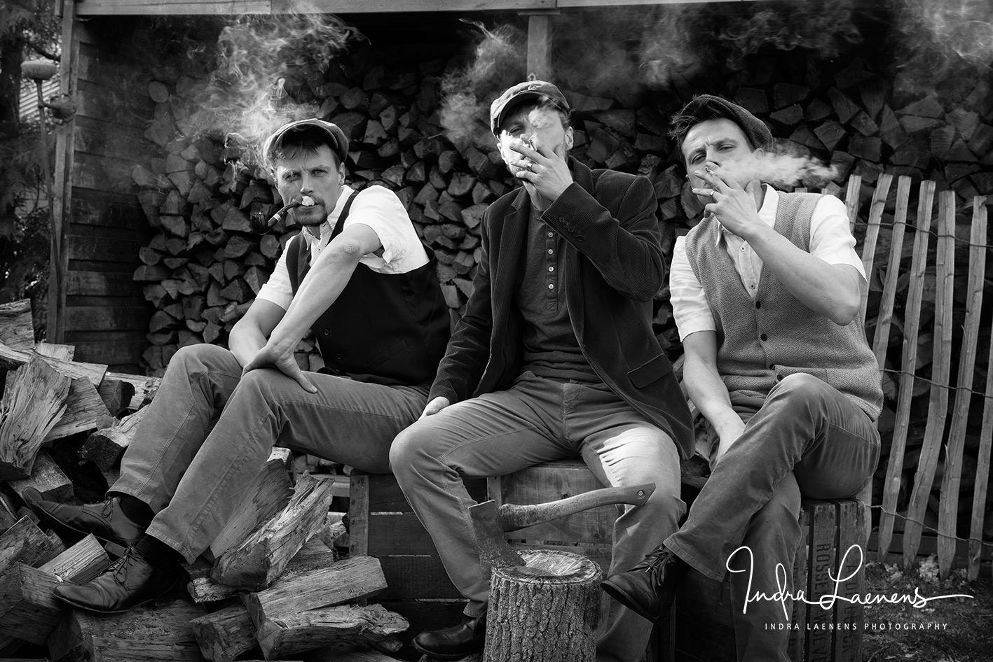 rokend zelfportret