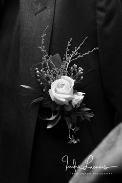 Opmaak bruidegom - corsage