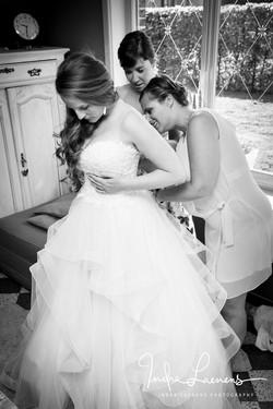 Opmaak bruid- trouwkleed