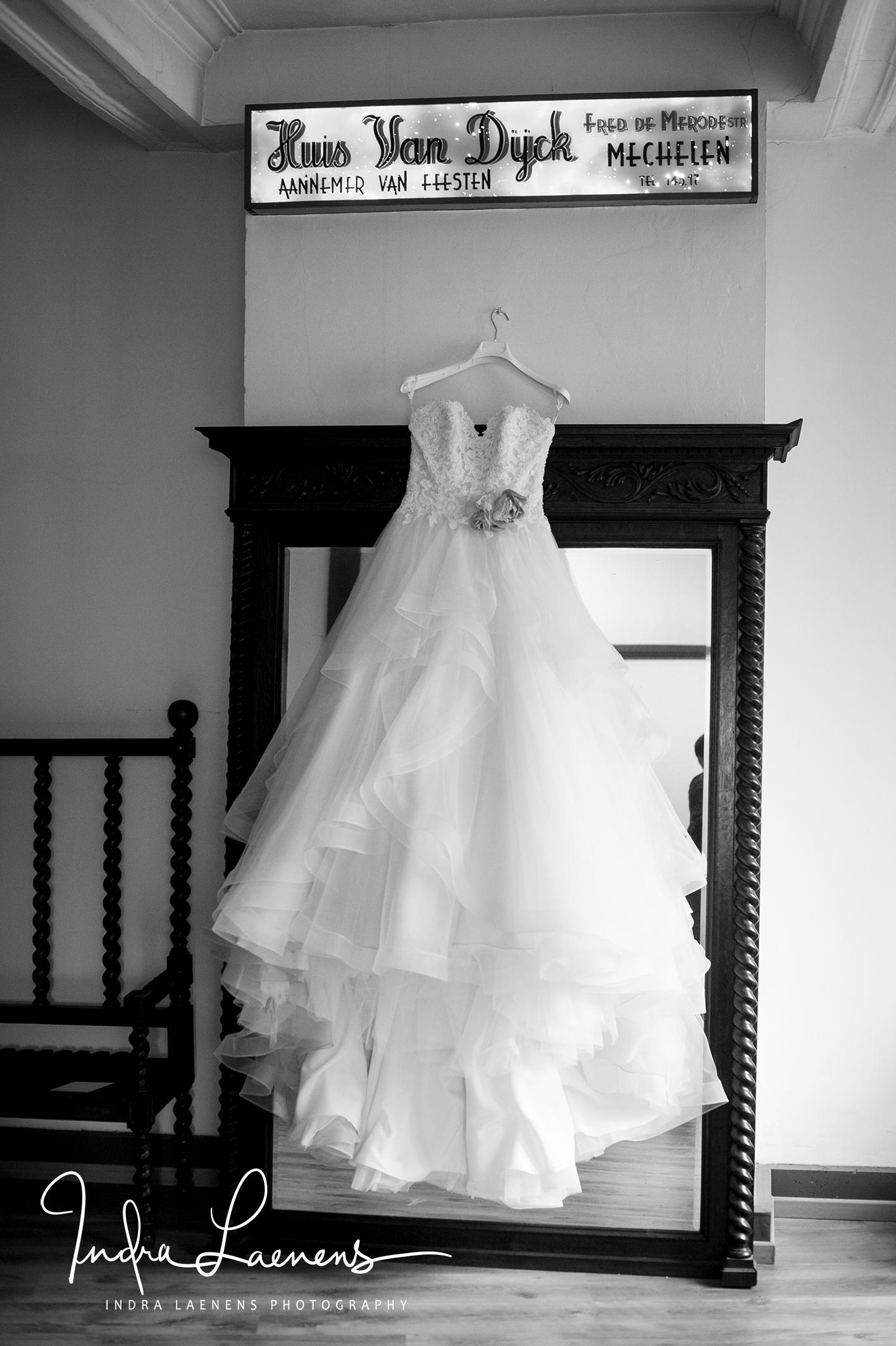 Opmaak bruid- foto huwelijkskleed