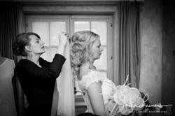 Opmaak bruid- sluier