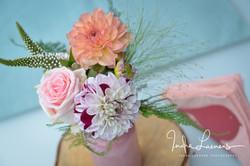 Opmaak bruid en bruidegom - bloemen