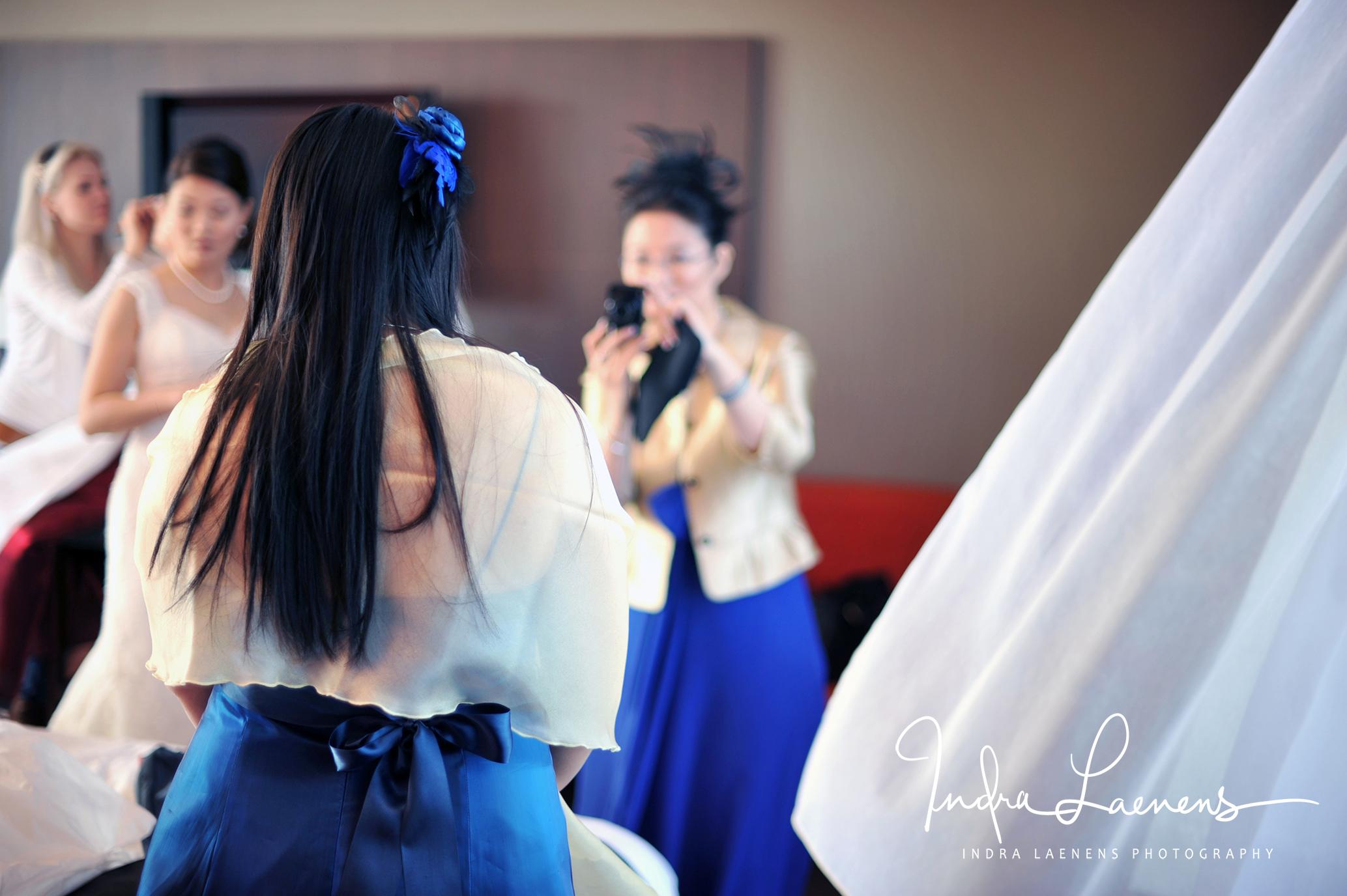 Opmaak bruid- foto's nemen