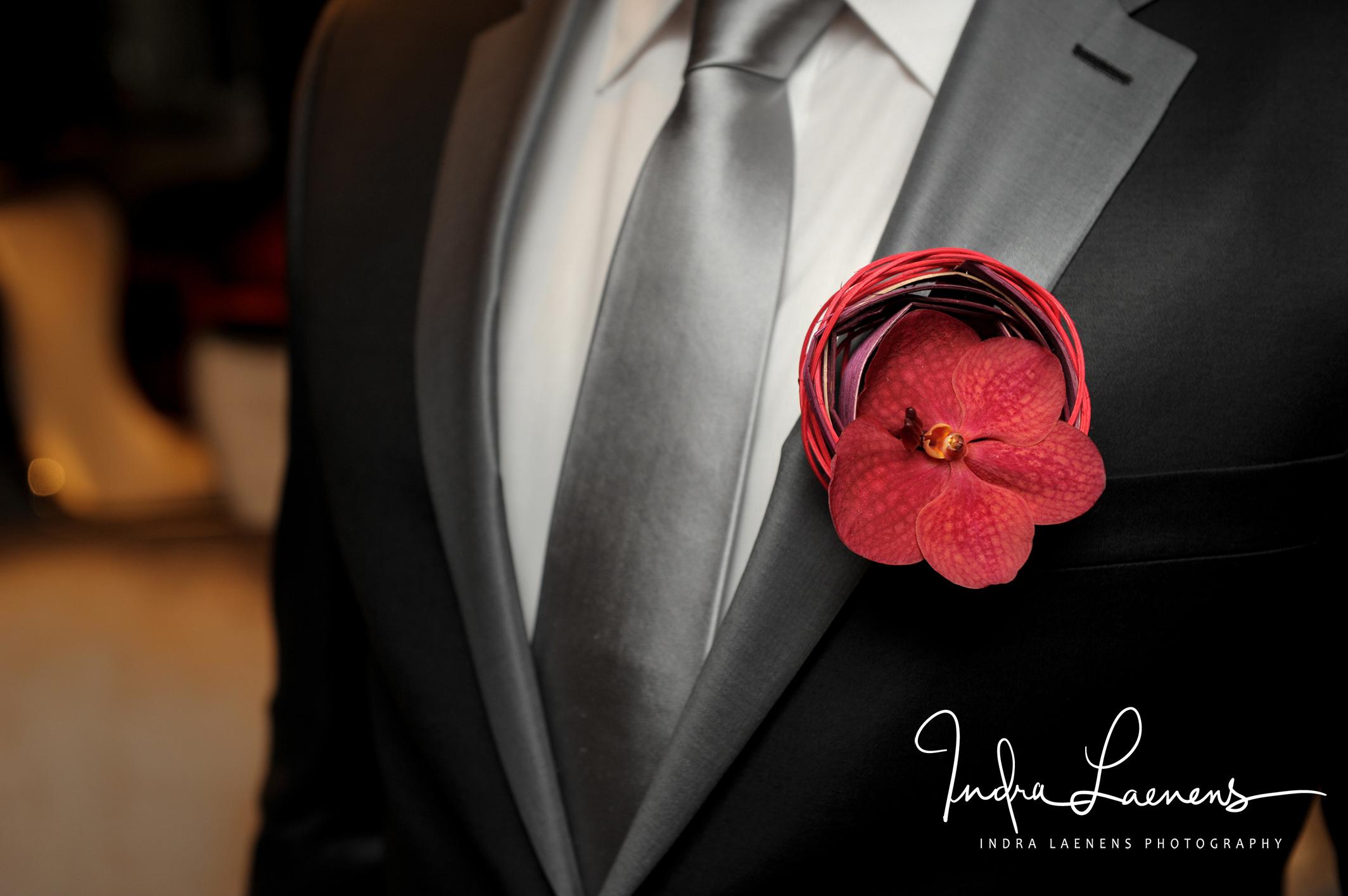 Opmaak bruidegom- corsage
