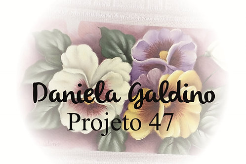 Projeto Digital 47: Toalha Lavabo Amor Perfeito