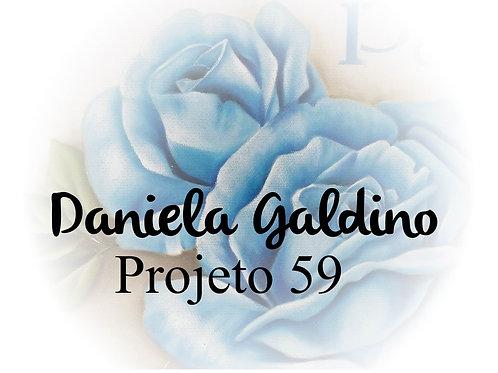 Projeto Digital 59: Rosas Azuis Vintage