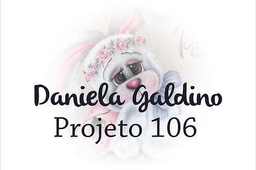 Projeto Digital 106: Páscoa 2021 Coelha com Ovos e Flores