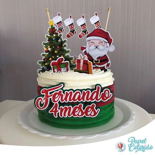Topo de bolo Natal