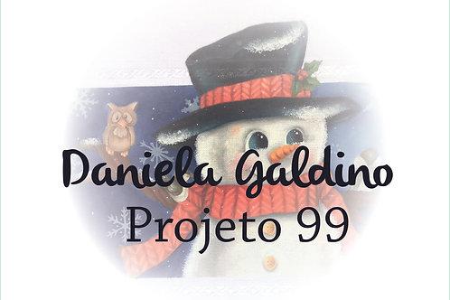 Projeto 99 - NATAL: Boneco de Neve no Tecido Catita