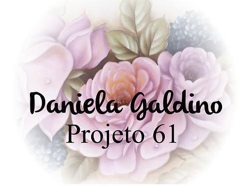 Projeto Digital 61: Rosas lilás com Hortênsias Turquesa