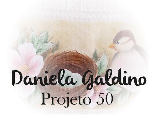 Projeto Digital 50: Toalha Lavabo Pássaro com Flor de Camp