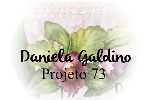 Projeto Digital 73: Toalha Lavabo - Orquídea Realista