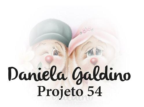 Projeto digital 54 Páscoa Casal Coelhos Apaixonados