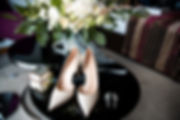 Canva - Beige bridal shoes with jewerly
